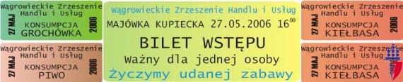 87 majowka 2006 bilet